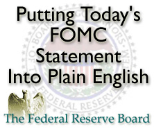 Todays FOMC statement for Clearwater FL