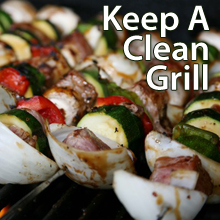 Keep a clean grill