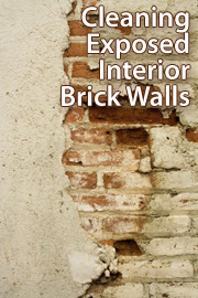 How to clean exposed interior brick