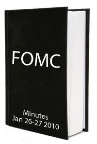 FOMC January 2010 Minutes