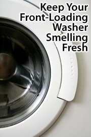 Front-loading washers can collect bacteria