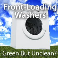 Front-loading washers may grow mold and mildew without special care