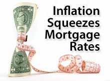 Inflation squeezes mortgage rates